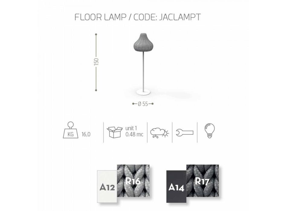 Lampada pavimento moderna Jackie Talenti da esterno in corda sintetica