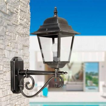 Lampada per esterno a parete in alluminio made in Italy, Aquilina