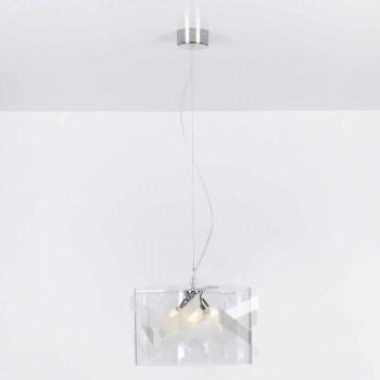 Lampada sospensione 3 luci in metacrilato specrall diam.75 cmNicole