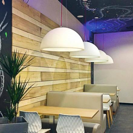 Lampada sospensione colorata Slide Cupole polietilene fatta in Italia