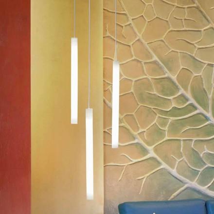 Lampada sospensione a tubo di design Slide Flux Hanging,in metacrilato