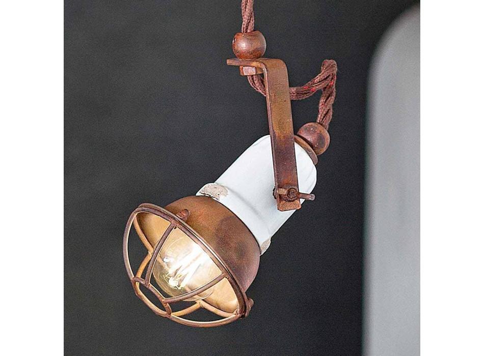 Lampada sospensione orientabile in ceramica e metallo Alayna Ferroluce