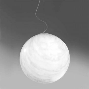 Lampada sospensione polietilene Slide Mineral a sfera fatta in Italia