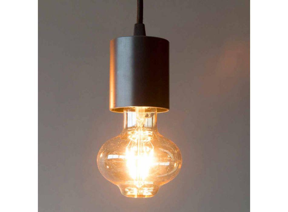 Lampada Sospesa Artigianale in Ferro con Cavo in Cotone Made in Italy - Frana