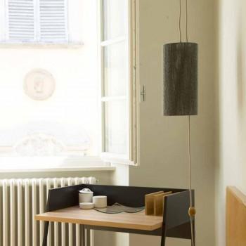 Lampada sospesa/da terra in ottone e lana fatta in Italia Evita