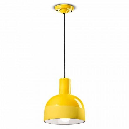 Lampada Sospesa dallo Stile Moderno in Ceramica Made in Italy – Ferroluce Caxixi