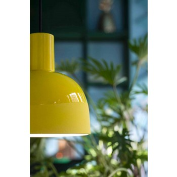 Lampada Sospesa dallo Stile Retrò in Ceramica Made in Italy – Ferroluce Caxixi