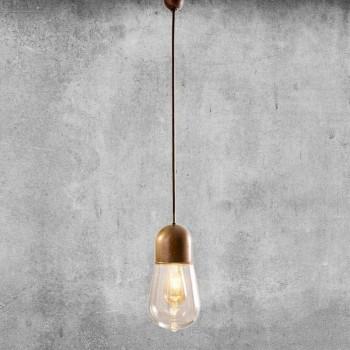 Lampada Sospesa Design Vintage in Ottone e Vetro - Guinguette Aldo Bernardi