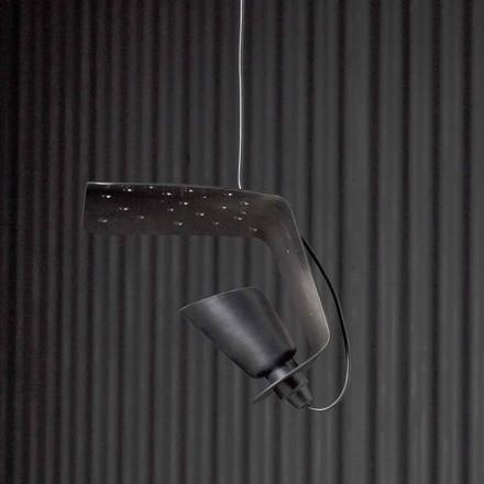 Lampada sospesa di design in metallo e alluminio Tractor - Toscot