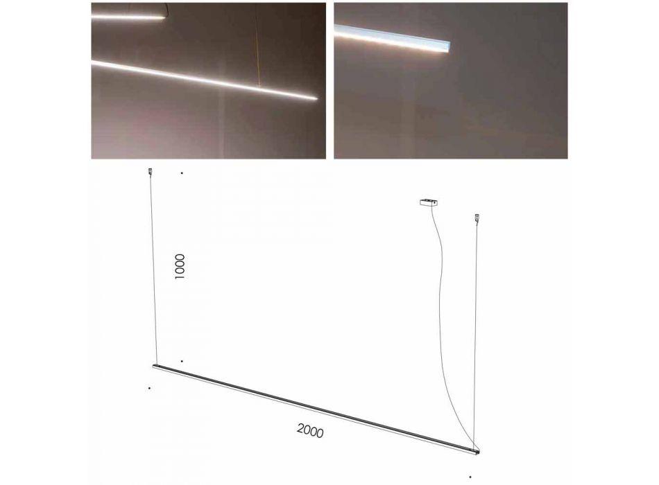 Lampada Sospesa Fatta a Mano in Alluminio con Barra LED Made in Italy - Ledda