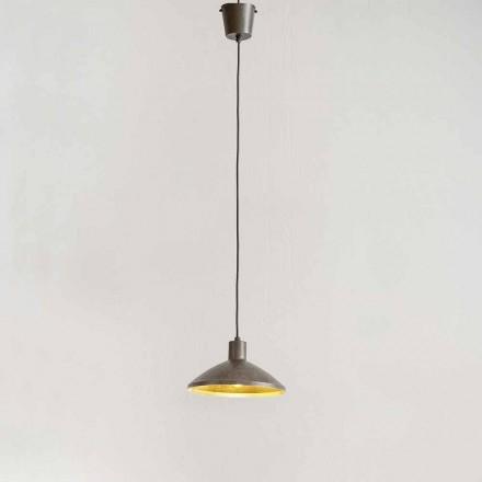 Lampada Sospesa in Acciaio Anticato Diametro 310 mm – Materia Aldo Bernardi