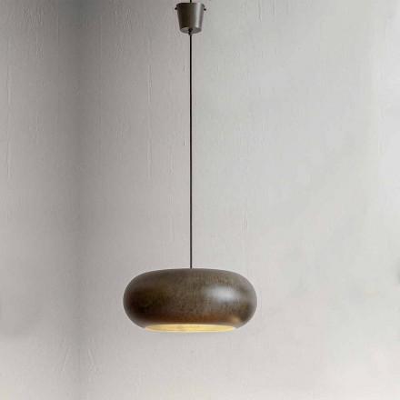 Lampada Sospesa in Acciaio Diametro 500 mm – Materia Aldo Bernardi