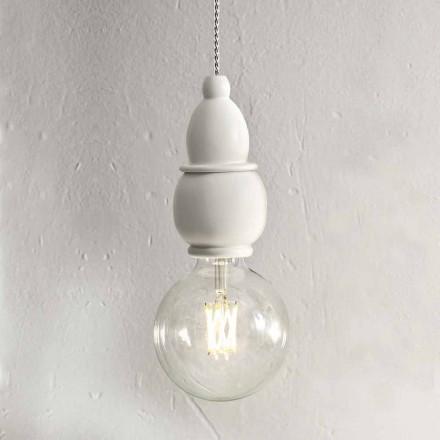Lampada Sospesa in Ceramica Shabby Chich con Cavo  3 mt – Fate Aldo Bernardi