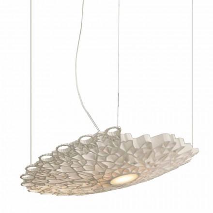 Lampada Sospesa in Tecnopolimero Bianco di Design 2 Dimensioni - Cattedrale