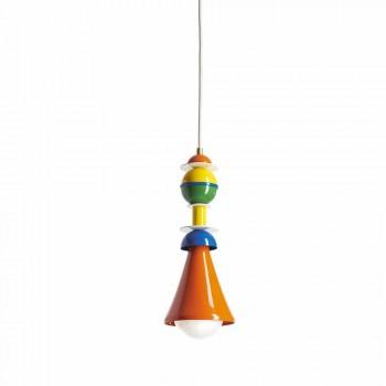 Lampada sospesa multicolor Slide Otello Hanging alluminio made Italy