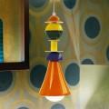Lampada sospesa moderna multicolor Slide Otello Hanging, made in Italy