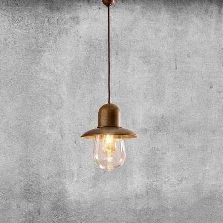 Lampada Sospesa Vintage con Riflettore in Ottone – Guinguette Aldo Bernardi
