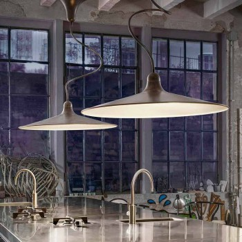Lampada Sospesa Vintage in Alluminio Made in Italy – Sassmaòr