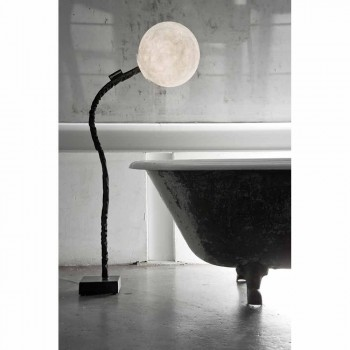 Lampada stelo flessibile da terra In-es.artdesign Micro Luna nebulite