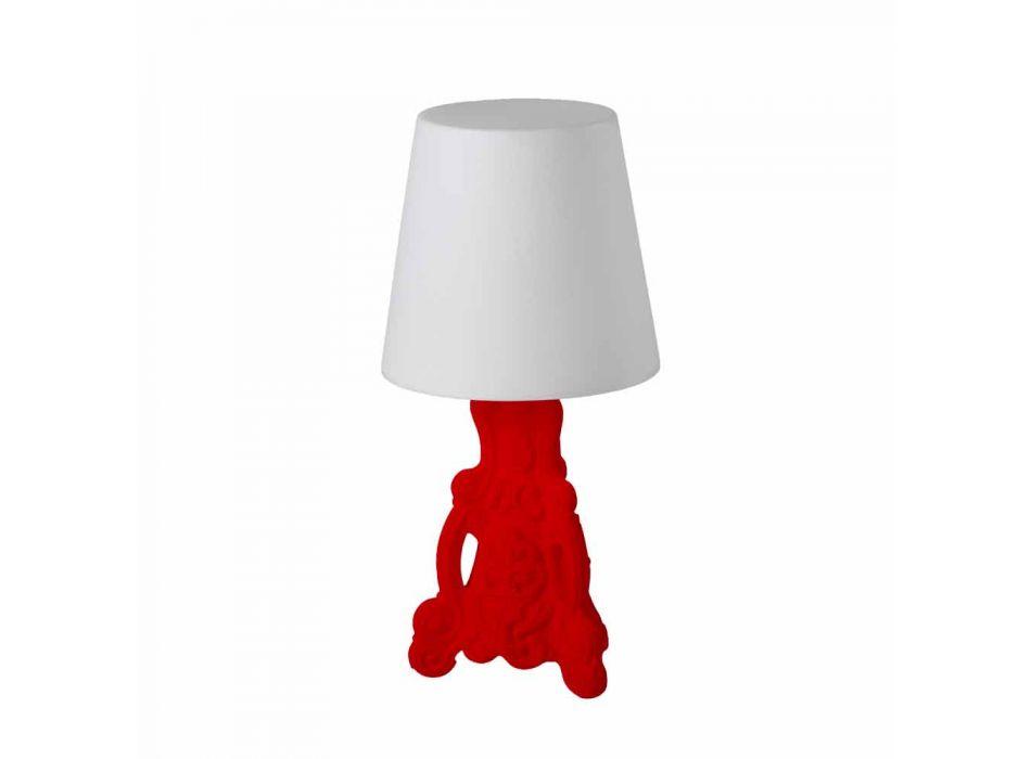 Lampada tavolo colorata Slide Lady of Love design moderno made Italy
