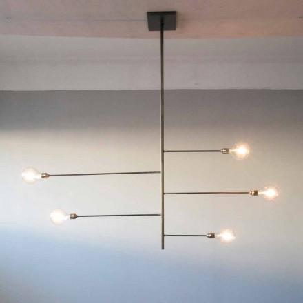 Lampadario Artigianale di Design con Struttura in Ferro Made in Italy - Tinna