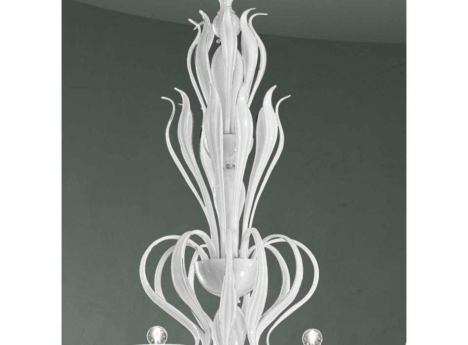 Lampadario da 12 Luci in Vetro di Venezia Realizzato a Mano in Italia - Agustina