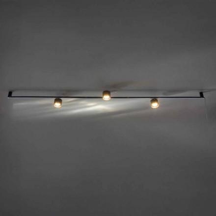 Lampadario di Design Artigianale con 3 Luci Orientabili Made in Italy - Pamplona