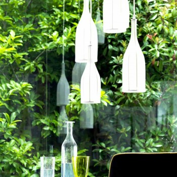 Lampadario di design con 6 paralumi Grilli Mathusalem fatto in Italia