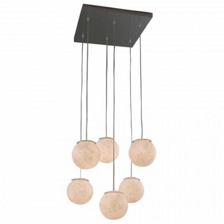 Lampadario di design moderno In-es.artdesign Sei Lune in nebulite