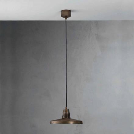 Lampadario di design stile industriale in ferro anticato Monica