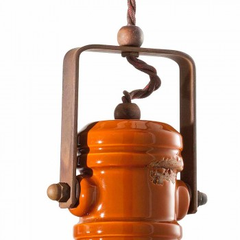 Lampadario vintage di design in ceramica artigianale Cameron Ferroluce