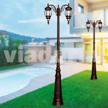 Lampione da esterno classico in alluminio pressofuso made Italy,Anika
