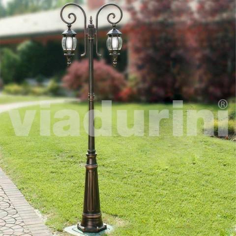 Lampione da giardino in alluminio pressofuso fatto in Italia, Anika