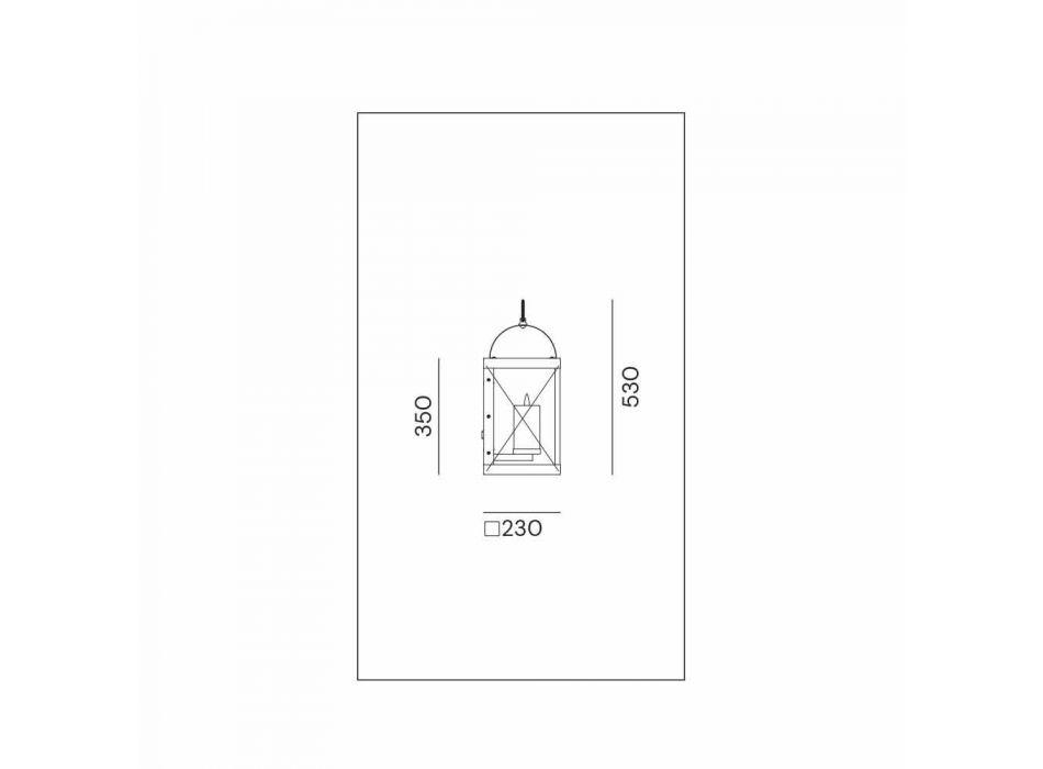 Lanterna a Parete con Candela Design Classico in Ottone - Lanterne by Il Fanale