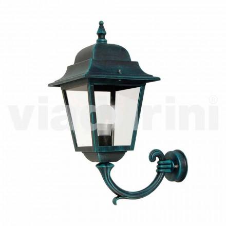 Lanterna a parete da giardino in alluminio fatta in Italia, Aquilina