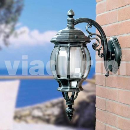 Lanterna a parete da giardino in alluminio prodotta in Italia, Anika
