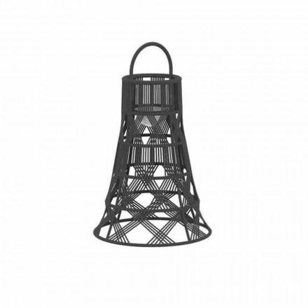 Lanterna da Esterno a Led in Corda e Alluminio Design Lusso - Tribal by Talenti