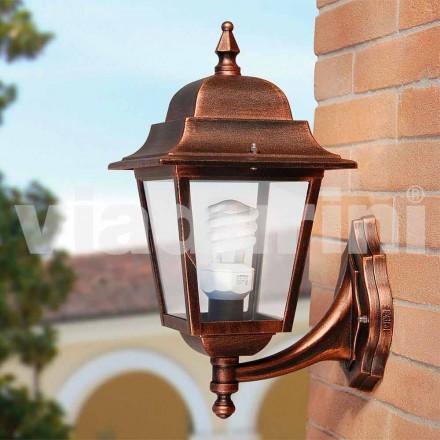 Lanterna da giardino a parete in alluminio made in Italy, Aquilina