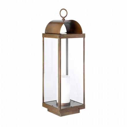 Lanterna da giardino da terra con candela Il Fanale