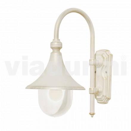 Lanterna da parete da esterno in alluminio bianco made in Italy,Anusca