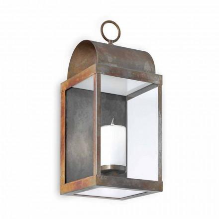 Lanterna da parete per esterno in ferro o ottone Il Fanale