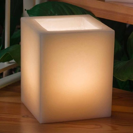 Lanterna Profumata in Cera Effetto Graffiato con Lumino Made in Italy - Famme