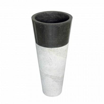 Lavabo a colonna conico in pietra naturale nera Raja