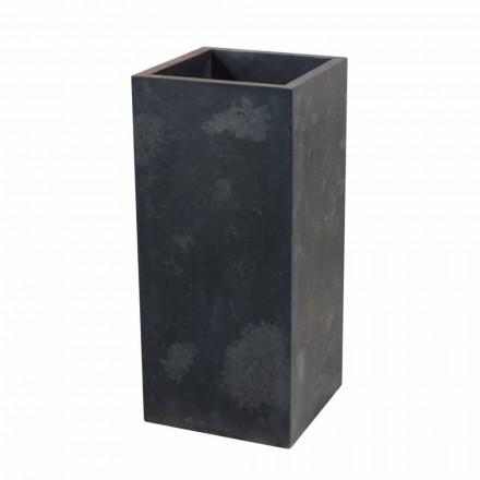 Lavabo a colonna in pietra naturale nera Balik