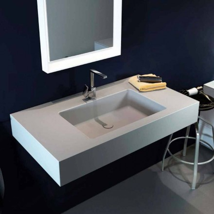 Lavabo a sospensione moderno in Luxolid made in Italy, Ruffano