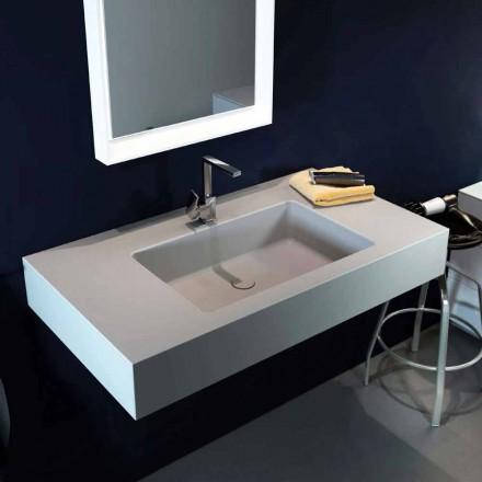 Lavabo a sospensione moderno in Luxolid made in Italy, Ruffano