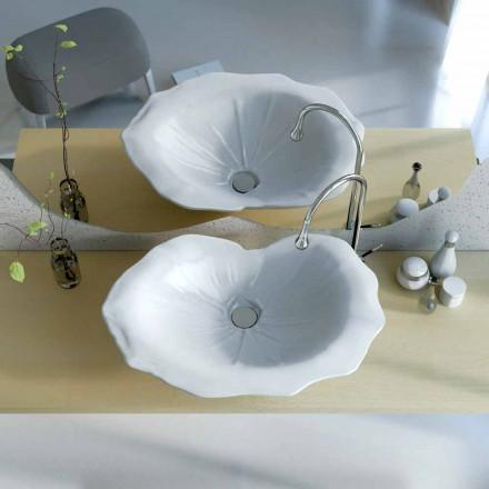 Lavabo appoggio design moderno a forma di foglia Faruglium