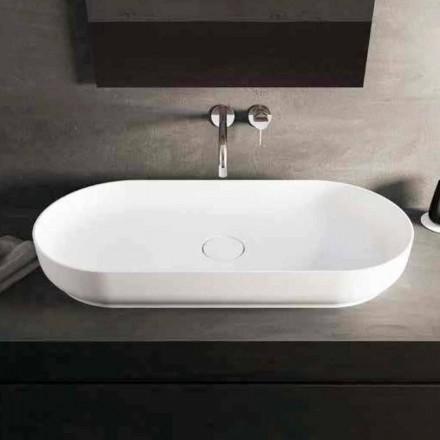 Lavabo bagno da appoggio design moderno Dalmine Maxi, fatto in Italia