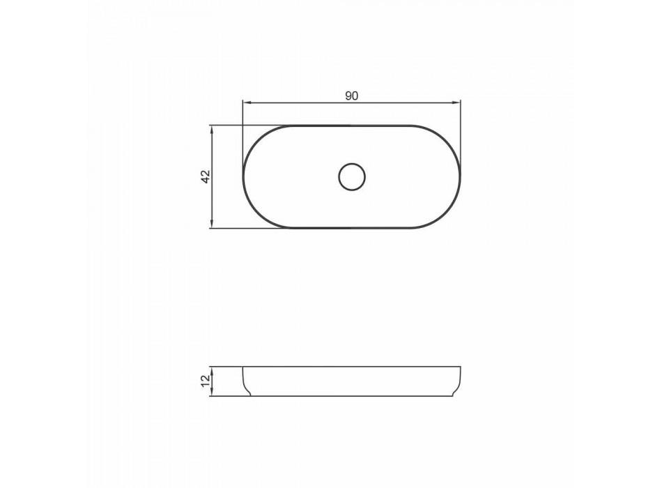 Lavabo bagno freestanding design moderno fatto in Italia Dalmine Maxi