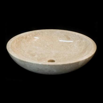 Lavabo bianco di design da appoggio in pietra naturale ziva - Lavabo bagno in pietra ...